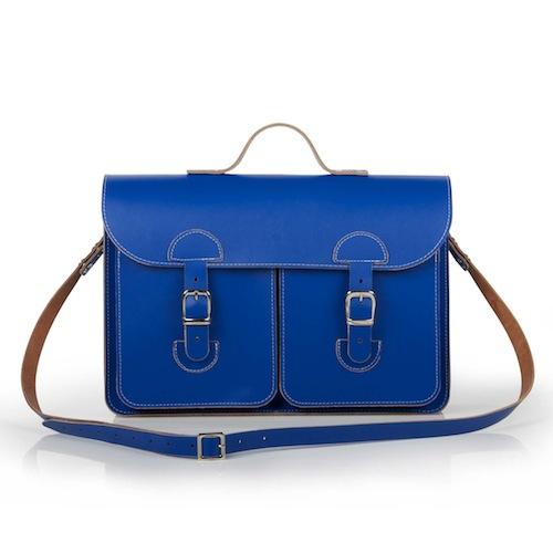 Schooltas Aktetas Schoudertas | OldSchool Bags - Original - Kobaltblauw