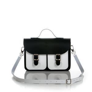 OldSchool Bags schooltas & aktetas - Small versie - zwart wit