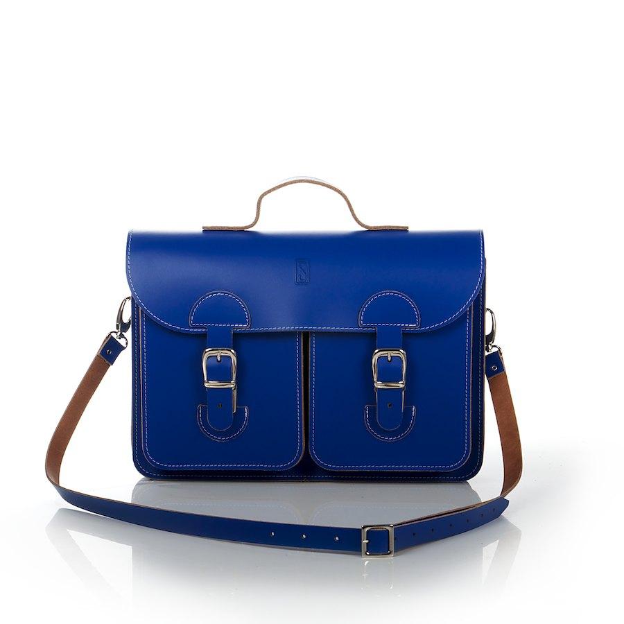OldSchool Bags schooltas & aktetas - Medium versie - kobaltblauw