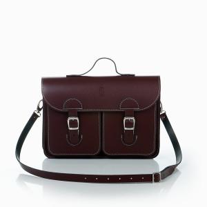 OldSchool Bags schooltas & aktetas - Medium versie - bordeaux rood