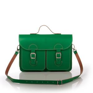 OldSchool Bags schooltas & aktetas - Medium versie - groen